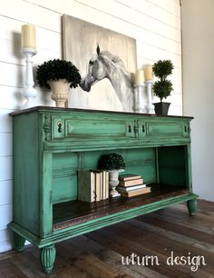 Rustic green buffet By uturn design – Decor Green Painted Furniture, Refurbished Furniture, Paint Furniture, Repurposed Furniture, Furniture Projects, Rustic Furniture, Furniture Makeover, Vintage Furniture, Green Distressed Furniture