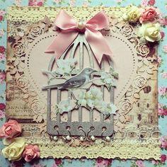 Shabby chic birdcage card | docrafts.com
