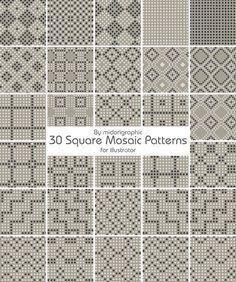 mosaic patterns   mosaic pattern by midorigraphic