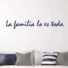 This Spanish La Familia wall quote translates to family is everything. Select the size and color that best fits your needs....