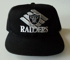 8206384f7fa37 Vintage Los Angeles Raiders American Needle Snapback Hat NFL VTG