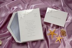 Beachy Starfish Invite Wedding Invitations by Birchcraft Studios - Invitation Box