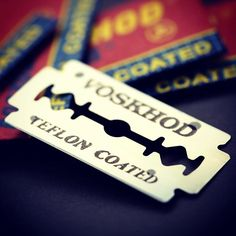Voskhod Teflon Coated Razor Blades... affordable comfort & durability #razorblade #voskhod #восход #thestraywhisker #blade #lithgow #shoplithgow #bluemountains #littlehartley #shavelikeaman #deshaving #deblades #teflon #traditionalwetshaving #oldschool #russia