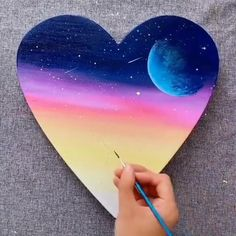 Great art by ID: 1159505892 (Döuyin App - Art interests Cute Canvas Paintings, Small Canvas Art, Diy Canvas Art, Acrylic Painting Canvas, Diy Painting, Art Paintings, Art Painting Gallery, Oil Pastel Art, Cool Art Drawings