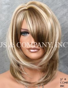 Shop our online store for blonde hair wigs for women.Blonde Wigs Lace Front Hair 14 Inch Blonde Wig From Our Wigs Shops,Buy The Wig Now With Big Discount. Frontal Hairstyles, Wig Hairstyles, Medium Hair Styles, Curly Hair Styles, Real Hair Wigs, Hair Color Techniques, Hair Color Highlights, Blonde Wig, Layered Hair