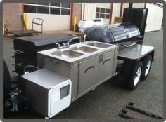 Pitsmoker TS 250 Custom Trailer with Sink Custom Bbq Grills, Custom Bbq Smokers, Custom Bbq Pits, Bbq Smoker Trailer, Bbq Pit Smoker, Barbecue Pit, Catering Trailer, Food Trailer, Bar B Que Grills