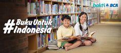 Program berbagi kebaikan untuk menyambut HUT BCA ke-60 melalui program Buku Untuk Indonesia. #bukuuntukindonesia