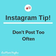 Instagram Tip: Dont Post Too Often Showcase your work with collage videos If you're posting more than every 3 or 4 hours then you're probably posting too much. You don't want to overwhelm the photo feeds of your followers -- so all they see when they login are your photos! This will lead to unfollows -- and lost potential customers.  So do you want to learn how to Crush it on Instagram?  Double Tap & TAG a friend if you like these awesome tips!  Want to learn more about How I help Home…