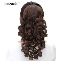 Pageup Long Curly Wavy Ponytail Clip In Hair Extensions Black Brown Drawstring Hair Heat Resistant Synthetic Pony Tail Wavy Ponytail, Ponytail Hairstyles, Black Hair Extensions, Long Curly, Synthetic Hair, Kinky, Black And Brown, Wigs, Long Hair Styles