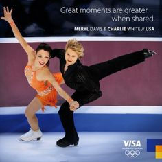 Ice dancing. Meryl Davis and Charlie White in Sochi 2014.