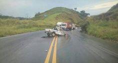 Acidente entre carro e caminhão deixa vítima fatal na BR-116