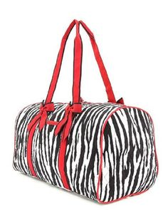 3ce9beda35 Belvah Womens Quilted Zebra Large Duffle Bag Large Bags
