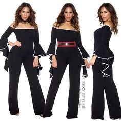 Channel your inner Selena in our Black Off Shoulder Ruffle Sleeve Palazzo JumpsuitThe most stylish & versatile piece EVERPurchase yours now✨www.MySexyStyles.com✨link is in our bio#mysexystyles #holiday #dresses #jumpsuits #outfit #beautiful #ootd #ootdmagazine #jlo #kim #kardashian #latina #dominicana #pink #instafashion #hair #makeup #nails #fashion #fashionblogger #influencer #girl #girls #stunning #style #stylish #onlineshopping #model #pretty #love