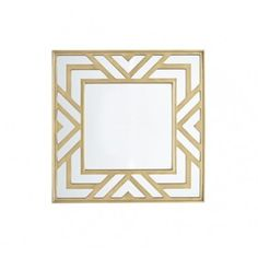 Give your home decor a touch of sophistication with the Madison Park Aberdeen Mirror. This square wall mirror features an elegant geometric design in the frame to create a chic transitional look. Geometric Furniture, Geometric Decor, Art Deco Furniture, Geometric Designs, Gold Furniture, Mirrored Furniture, Art Deco Bathroom, Art Deco Mirror, Mirror Set