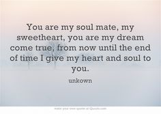 Beautiful quote for soul mates, love photo