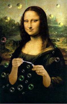 Mona Lisa bubblesFosterginger.Pinterest.ComMore Pins Like This One At FOSTERGINGER @ PINTEREST No Pin Limitsでこのようなピンがいっぱいになるピンの限界