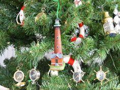 Currituck Lighthouse Decoration Christmas by NauticalBeachDecor