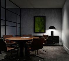 Dark modern office space by b.e architecture - http://www.interiorredesignseminar.com/interior-design-inspirations/dark-modern-office-space-by-b-e-architecture/