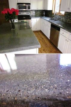 This countertop was coated with a leggari products diy - Qu est ce que le beton cire ...