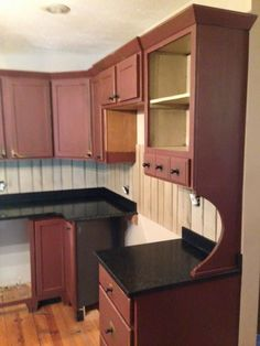 i like the color of these cabinets. would be a great color for shelves in our new living room! Primitive Kitchen Cabinets, Kitchen Cabinets Decor, Cabinet Decor, Kitchen Redo, Rustic Kitchen, Kitchen Ideas, Bar Cabinets, Condo Kitchen, Cheap Kitchen