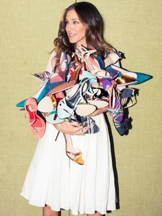 Sarah Jessica Parker and her many shoes.