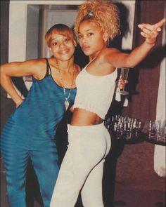 T-boz and Lisa Black 90s Fashion, Hip Hop Fashion, Tlc Group, Girl Group, Black Love, Black Is Beautiful, Black Girl Magic, Black Girls, Lisa Left Eye