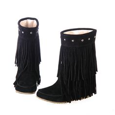 Concise Dull Polish Closed Toe Flat Heel Boot 10703029 - Boots - Dresswe.Com
