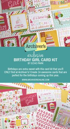 Make 14 fun birthday cards with this kit you'll only find at Archiver's while supplies last!