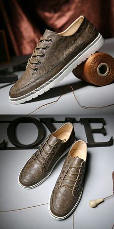 New Arrival Design Men's Casual Leather Oxfords Brogue WingTip Lace Up Pointed Toe Oxford Male Patch Elevator Shoes