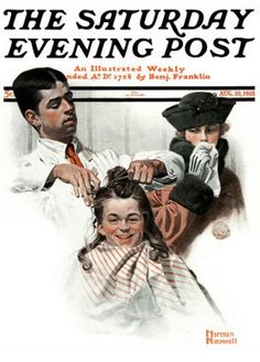 First Haircut August 10, 1918 Norman Rockwell Saturday Evening Post