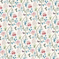 Dolls House  Wallpaper 1/12th or 1/24th scale Quality Paper Birds Dollhouse  Miniature#338