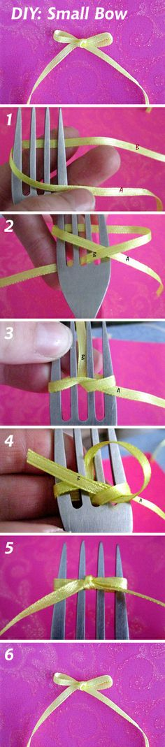 DIY: How to make a small bow See more: http://www.livemaster.ru/topic/591741 #DIY #handmade