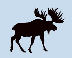 MOOSE-MINI-STENCIL-NORTHWOODS-STENCILS-TEMPLATE-TEMPLATES-ANIMAL-NEW-4-X-4