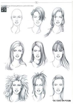 Mode Croquis Hairstyle - New Hairstyles - - Cartoon Drawings, Drawing Sketches, Art Drawings, Sketching, Drawing Art, Fashion Illustration Hair, Top Photos, Hair Sketch, Art Inspiration Drawing