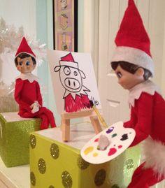 Hold still, almost done. Hold still, almost done. Meery Christmas, Christmas Holidays, Christmas Crafts, The Doors, Christmas Activities, Christmas Traditions, Birthday Elf, Elf Auf Dem Regal, Der Elf