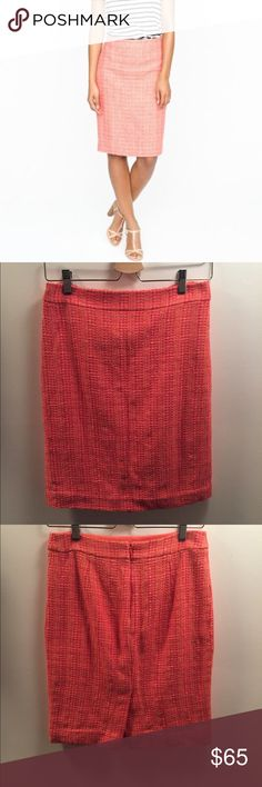 """🎉SALE🎉J. Crew Neon Tweed No. 2 Pencil Skirt NWT perfect condition. Amazing piece! 21"""" long J. Crew Skirts Pencil"""