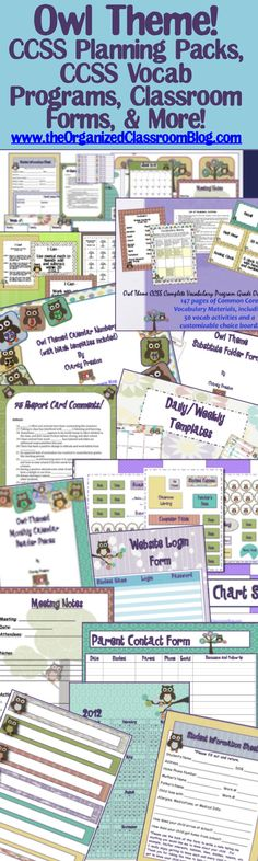 The entire owl category, including several freebies with no registration required!  http://www.theorganizedclassroomblog.com/index.php/ocb-store/view_category/12-owl-theme-resources
