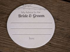 25 Lantern Advice for the BRIDE & GROOM Coasters door ladybugpress, $25.00