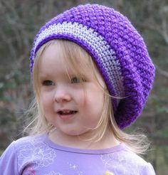 Cappello a uncinetto: schemi e modelli - Basco per bimba