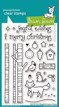 the Lawn Fawn blog: Fall/Winter 2014 Sneak Week - Day 4- Joy To The Woods stamp set.