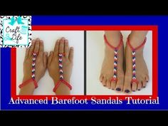 Advanced Rainbow Loom Barefoot Sandals Tutorial