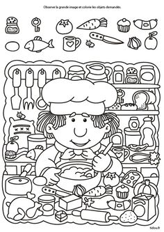 Search and find hidden objects - tidou. Printable Activities For Kids, Preschool Learning Activities, Brain Activities, Preschool Worksheets, Preschool Activities, Kids Learning, Kids Educational Crafts, Hidden Pictures Printables, Hidden Picture Puzzles