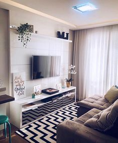 Small Apartment Living, Small Living Rooms, Living Room Decor Cozy, Home Living Room, Living Room Tv Unit Designs, Home Decor Furniture, Home Decor Inspiration, Sweet, Ideas