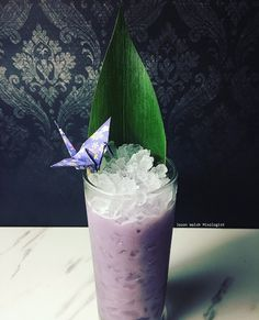 """I designed this cocktail for world peace day. This is called the """"Concordia"""" cocktail which in Latin means harmony. Made with butterfly pea flower infused Pisco porton (butterfly pea flower..."""