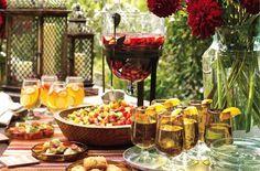 aperitif dinatoire deco buffet mexicain