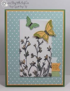 I used some of that awesome Sheer Perfection Vellum and the Nature's Perfection stamp set from Stampin' Up!'s Sale-A-Bration selections to create my card to share today. The colors for my card were...