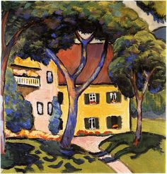 Staudacher's house at the Tegernsee (1910) by August Macke