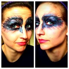 Black Swan makeup for Halloween