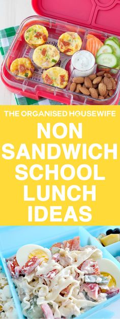 Every child is different and yours may not like the standard ham sandwich, so I have compiled some easy ideas and recipes to help spark some non-sandwich school lunch ideas. snacks, Non-sandwich School Lunch Ideas Lunch Snacks, Lunch Box Recipes, Baby Food Recipes, Healthy Recipes, School Lunch Recipes, Lunch Box Meals, Healthy Lunchbox Ideas, Easy Recipes For Kids, Healthy Kids Snacks For School