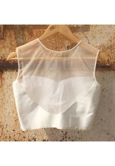 The Peach Project - Sheer White Blouse